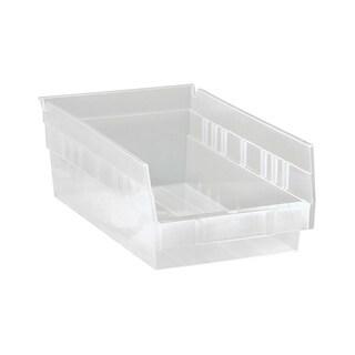 Quantum QSB102CL Clear View Economy Shelf Bin - 30 Pack