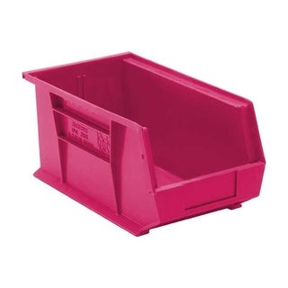 "Quantum Ultra Pink Stack and Hang Bin 14-3/4"" X 8-1/4"" X 7"" - 12 Pack"