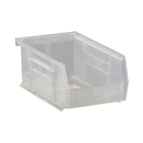 """Quantum Plastic Storage Clear View Ultra Hang and Stack Bin 7-3/8"""" x 4-1/8"""" x 3"""" - 24 Pack"""