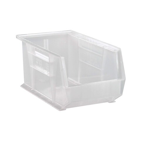 """Quantum Plastic Storage Clear View Ultra Hang and Stack Bin 14-3/4"""" x 8-1/4"""" x 7"""" - 12 Pack"""