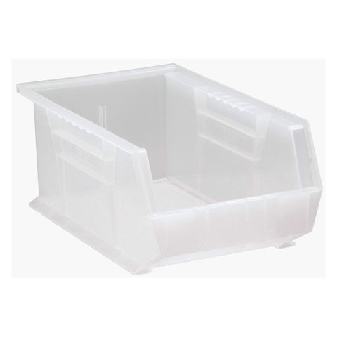 """Quantum Plastic Storage Clear View Ultra Hang and Stack Bin 13-5/8"""" x 8-1/4"""" x 6"""" - 12 Pack"""