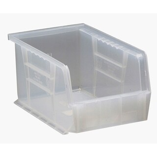 """Quantum Plastic Storage Clear View Ultra Hang and Stack Bin 9-1/4"""" x 6"""" x 5"""" - 12 Pack"""