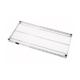 """Quantum Storage Systems Stainless Steel Wire Shelf - 21""""W x 72""""L"""
