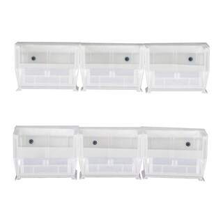 Offex Hang and Stack Bin Complete Package - Clear