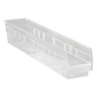 Quantum QSB105CL Clear View Economy Shelf Bin - 16 Pack