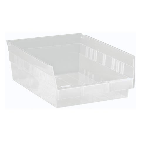 Quantum QSB109CL Clear View Economy Shelf Bin - 8 Pack