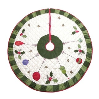Holiday Noel Christmas Tree Skirt