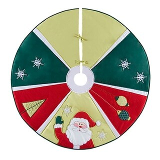 "Jolly Santa Christmas Tree Skirt - 54"" x 54"""