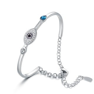 Rhodium Plated Made With Crystal By Swarovski Bracelet