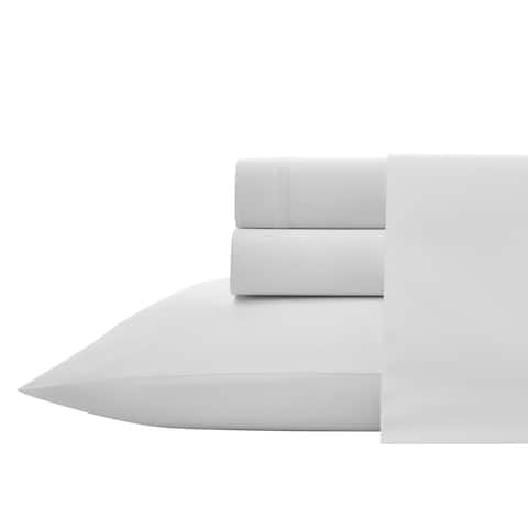 Vera Wang Triple Merrow White Sheet Set