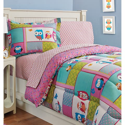 Kids Fun Owl Sheet Set