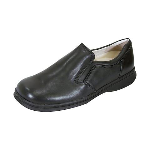 24 HOUR COMFORT Jason Men Extra Wide Width Professional Slip-On Shoe