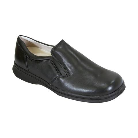 24 HOUR COMFORT Jason Men Extra Wide Width Professional Slip-On Shoe