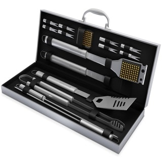 Link to BBQ Grill Tool Set- 16 Piece High Quality Stainless Steel Barbecue Grilling Accessories Home-Complete Similar Items in Grills & Outdoor Cooking
