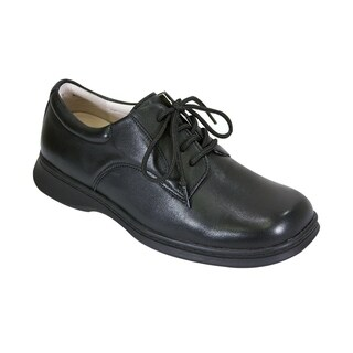 24 HOUR COMFORT Tim Men Extra Wide Width Lace Up Classic Oxford Shoes
