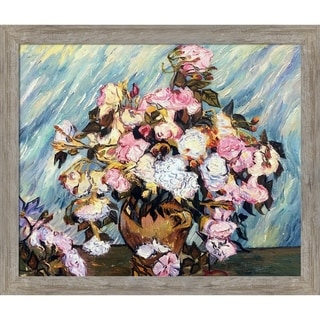 Vincent Van Gogh 'Still Life Vase with Roses' Hand Painted Oil Reproduction
