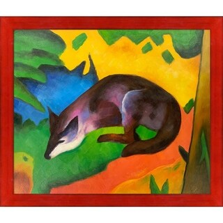 Franz Marc 'Blue Black Fox' Hand Painted Oil Reproduction