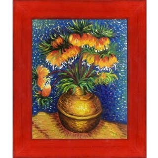 Vincent Van Gogh 'Crown Imperial Fritillaries in a Copper Vase' Hand Painted Oil Reproduction
