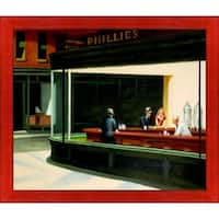Edward Hopper 'Nighthawks, 1942' Hand Painted Oil Reproduction