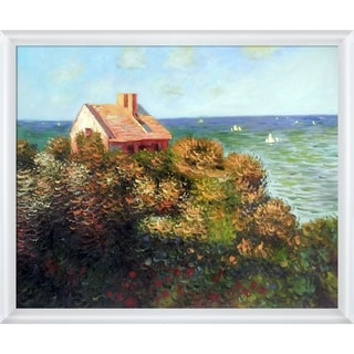 Claude Monet 'Fishermans Cottage At Varengeville' Hand Painted Oil Reproduction