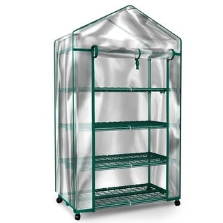Link to Mini Greenhouse-4-Tier Indoor Outdoor Sturdy Portable Shelves by Home-Complete - 27.1 x 19.3 x 63.3 Similar Items in Gardening