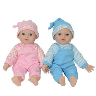 "12"" caucasian baby twin dolls"