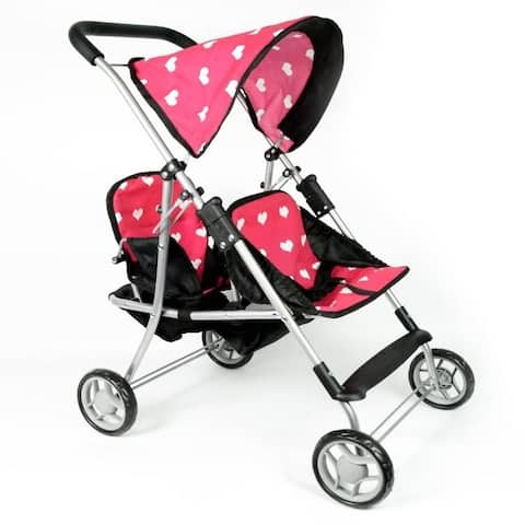 My First Doll Twin Stroller Hearts