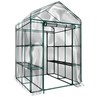Walk-In Greenhouse- Indoor Outdoor with 8 Sturdy Shelves-Grow Plants, Seedlings, Herbs, or Flowers by Home-Complete