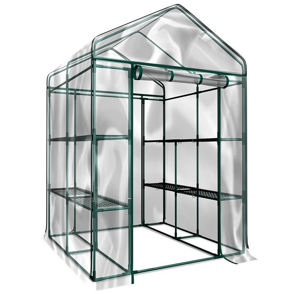 Walk-In Greenhouse- Indoor Outdoor with 8 Sturdy Shelves-Grow Plants, Seedlings, Herbs, or Flowers by Home-Complete. Opens flyout.