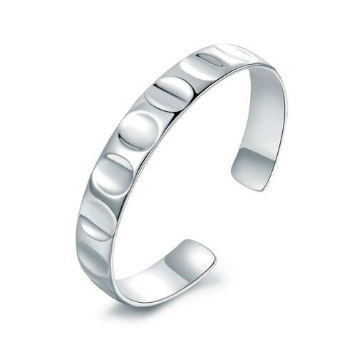 Rhodium Plated Cuff Bracelet