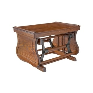 Oak Gliding Ottoman with Solid Sides