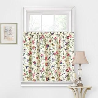 Waverly Carolina Crewel Curtain Tier Pair - 52X36