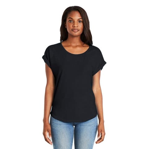 Next Level womens Dolman with Rolled Sleeves (6360)