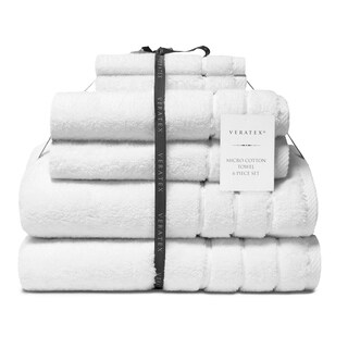 Veratex Turkish Micro Cotton Terry 6 Piece Bath Towel