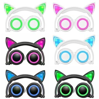 Jamsonic Light Up LED Cat Ear Headphones First Edition