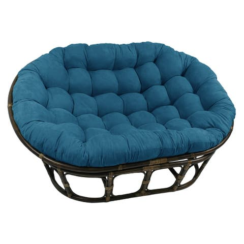 Blazing Needles 65-inch Microsuede Double Papasan Cushion