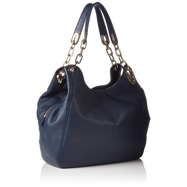 0b3c706cdaf8 Shop Michael Kors Fulton Large Shoulder Navy Tote Bag - Free Shipping Today  - Overstock - 22542216