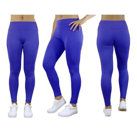 Galaxy By Harvic Women's Stretch Leggings - Yoga Running Jogging Sports