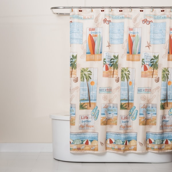 a5a89d6a9803 Shop Beach Time Shower Curtain - Free Shipping On Orders Over  45 -  Overstock.com - 22543661