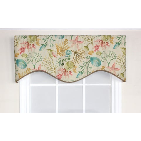 RLF Home Cherrystone Cornice Window Valance - Reef