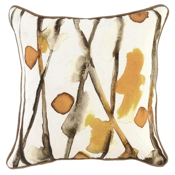 Kosas Home Goldenrod Printed 18-inch Throw Pillow
