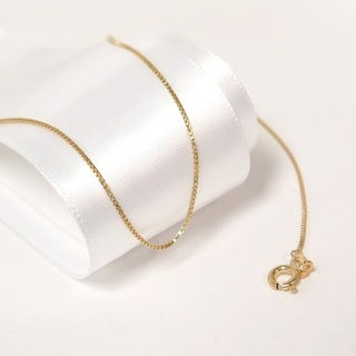 Eternally Haute Italian 14k Gold plated Sterling Silver Box Chain