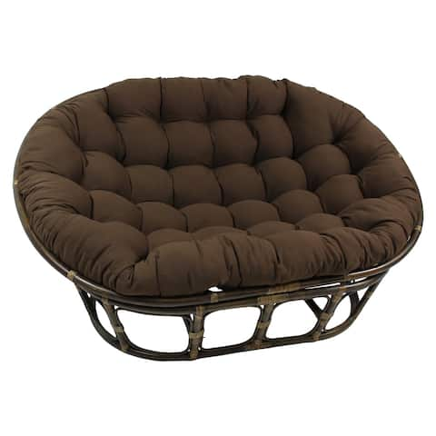 Blazing Needles 65-inch Solid Double Papasan Cushion
