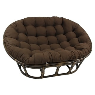 Link to Blazing Needles 65-inch Solid Double Papasan Cushion Similar Items in Table Linens & Decor