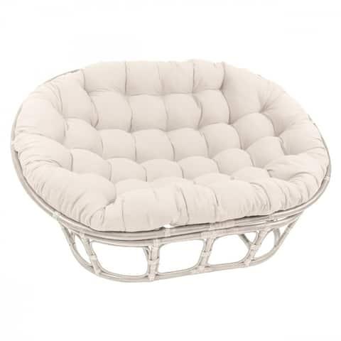 Blazing Needles 65-inch Solid Double Papasan Cushion