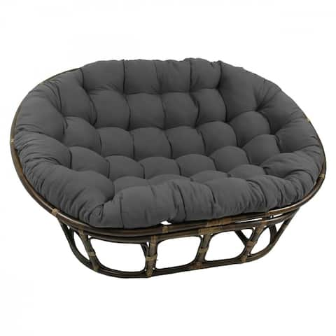 Blazing Needles 65-inch Solid Double Papasan Cushion (Cushion Only)