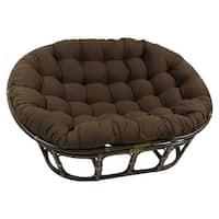 Blazing Needles 65-inch Solid Twill Double Papasan Cushion