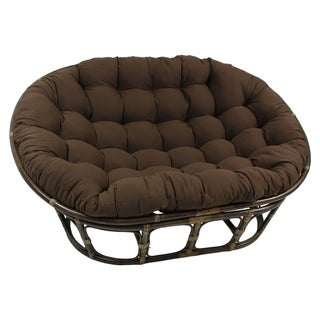 Blazing Needles 65-inch Solid Twill Double Papasan Cushion (More options available)