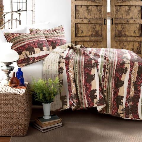 Lush Decor Holiday Lodge 3 Piece Quilt Set
