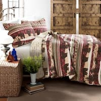 Lush Decor Holiday Lodge 3 Piece Quilt Set
